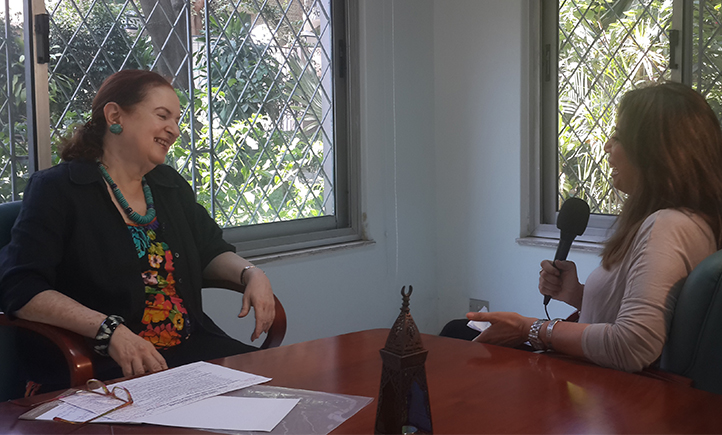 Dr. Heba Handoussa interviewed by Nile TV host Shahira Amin