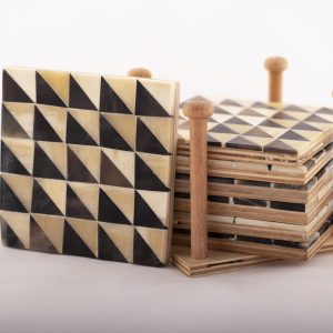 Camel Bone Coaster -Set of 6 pieces-