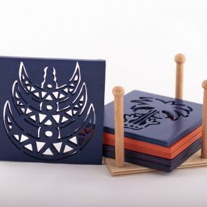 Arquette Coaster inspired from Egyptian Folk Art  -Set of 6 Pieces-
