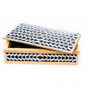 Jewelry Wooden Box inlaid with Acrylic-Rectangular Shape-